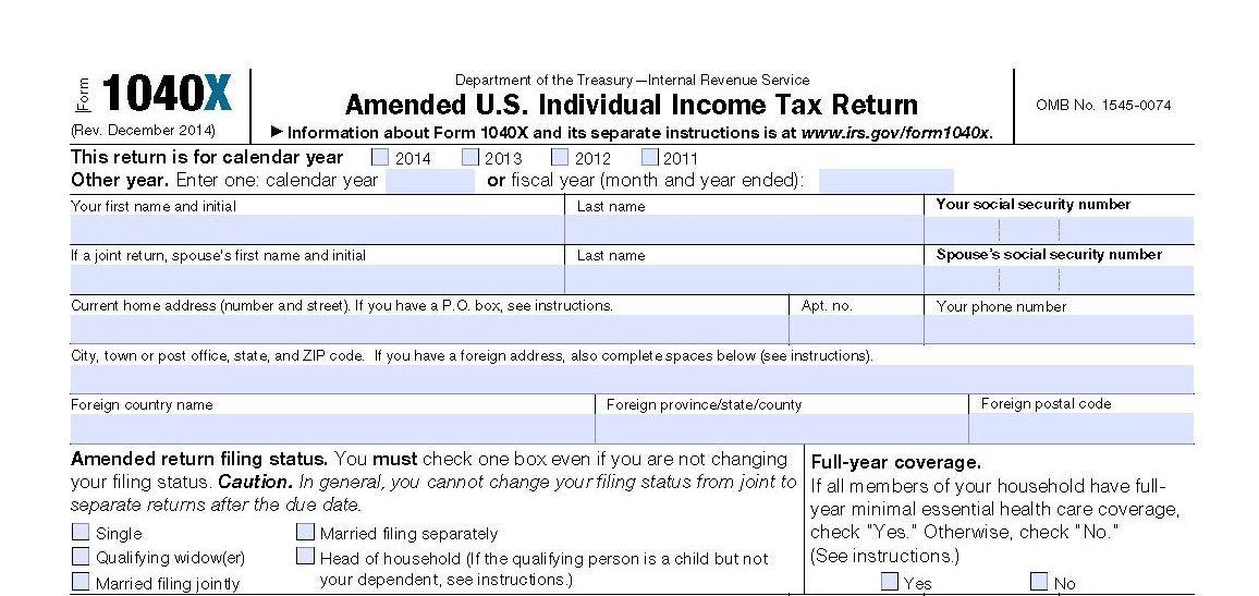 Correcting Mistakes After You File Amended Tax Returns Page 2