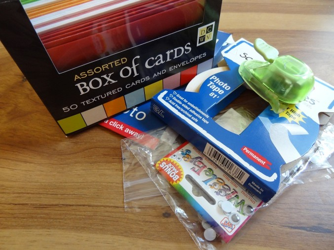 Ingredients for the 20-cent greeting card